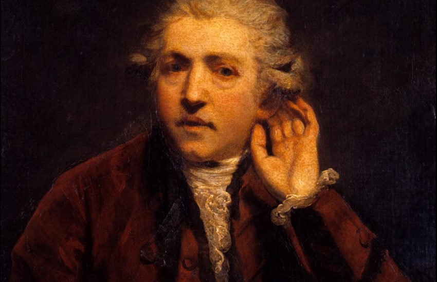 Joshua Reynolds Self Portrait as Deaf Man